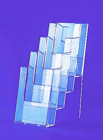 Produzione espositori in plexiglas da banco per negozi - Porta volantini ...