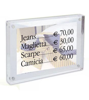 Realizzazione targhe da banco in plexiglas - Targhe porta plexiglass ...