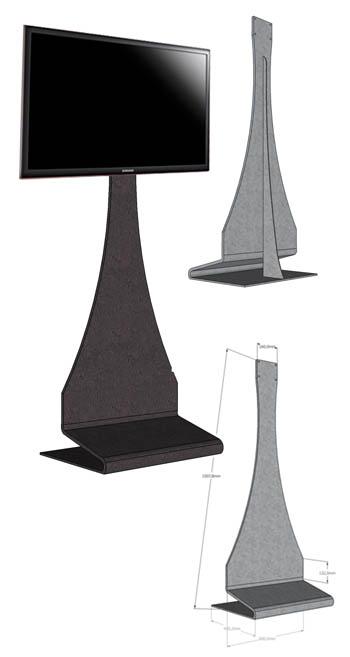 Etm047 totem da terra porta tv o monitor in lamiera - Porta tv da terra ...